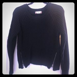 Black Crewneck Sweater by Pink Rose